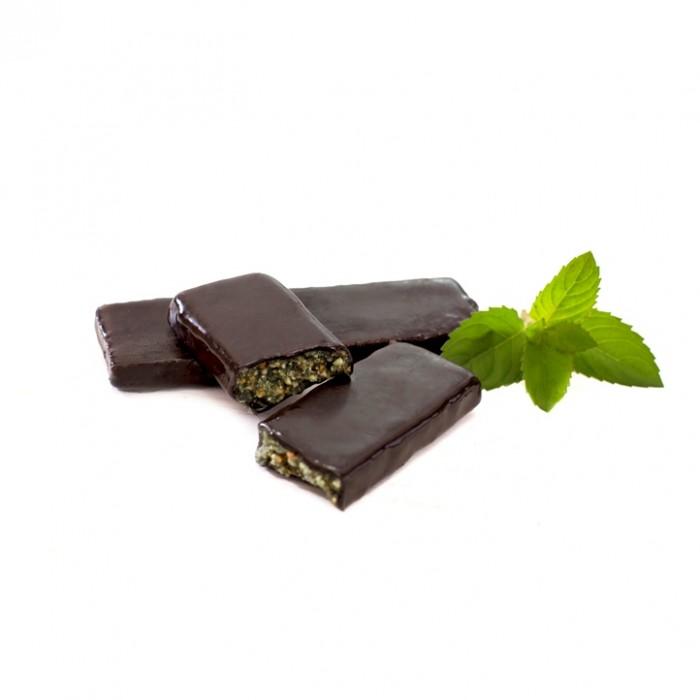 GRAB «М'ЯТА», фруктово-горіховий батончик в шоколаді, 40г